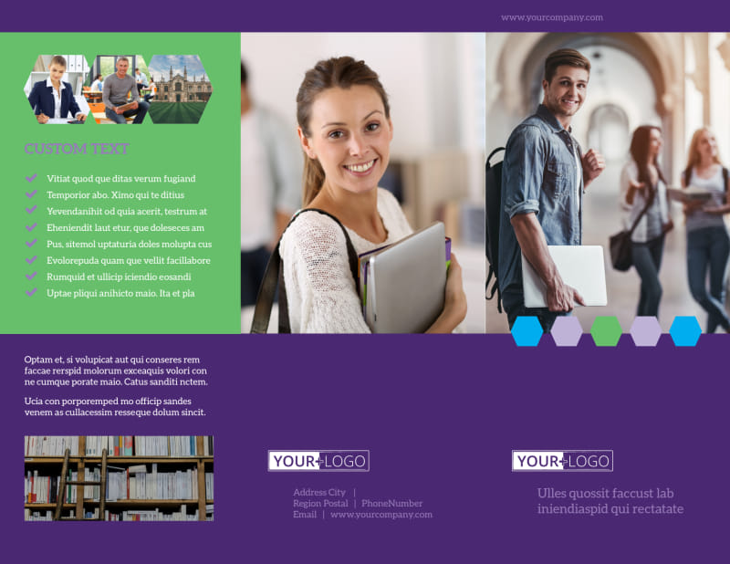 Student Accommodations Brochure Template Preview 2