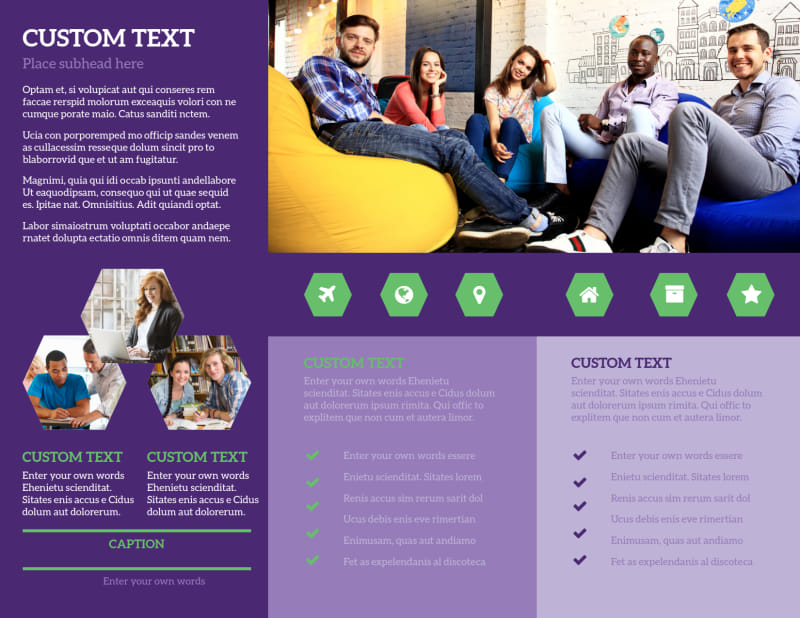 Student Accommodations Brochure Template Preview 3