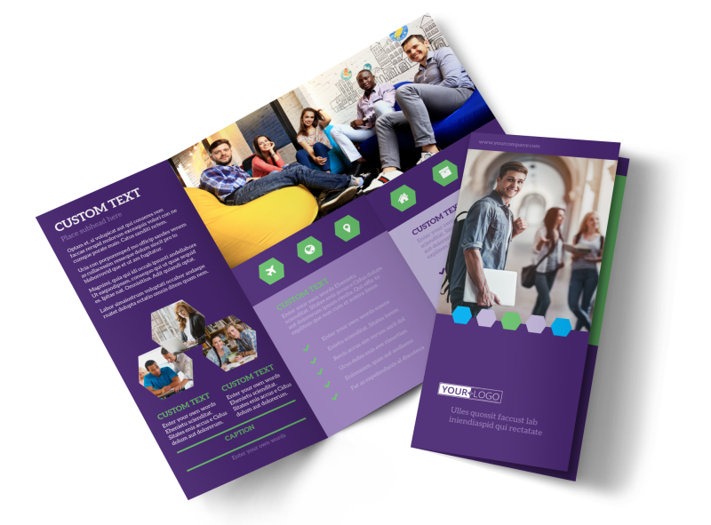 Student Accommodations Brochure Template Preview 1
