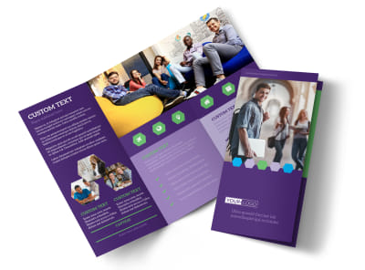Student Accommodations Tri-Fold Brochure Template preview