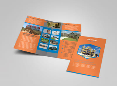 Property Management Bi-Fold Brochure Template preview