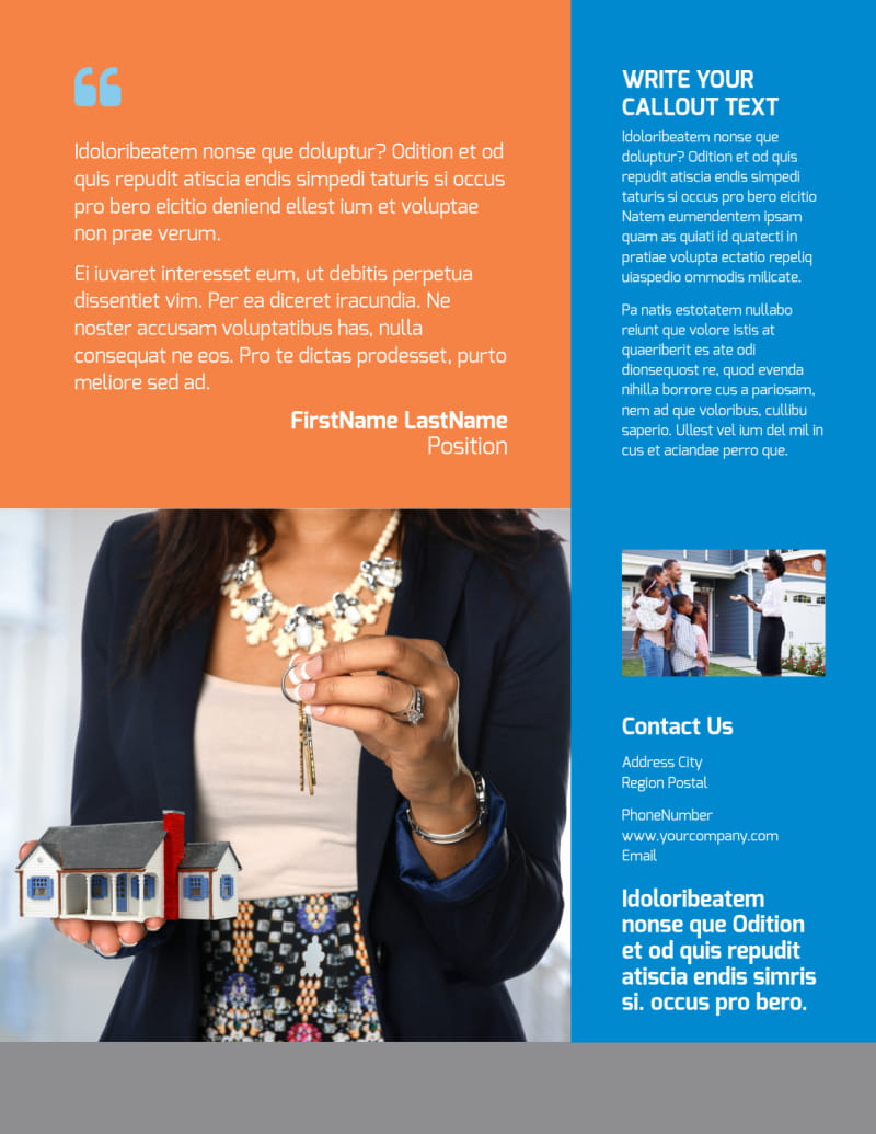 Property Management Flyer Template Preview 3