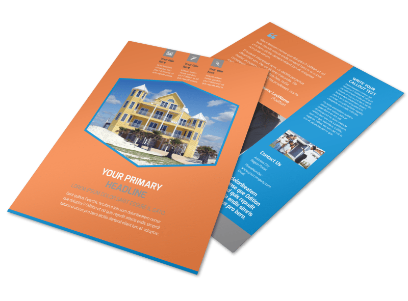 Property Management Flyer Template Preview 1