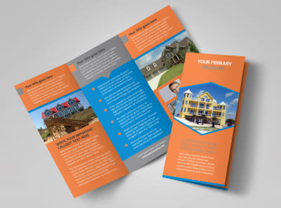 Property Management Tri-Fold Brochure Template preview