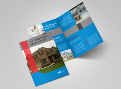 Real Estate Home for Sale Bi-Fold Brochure Template 2