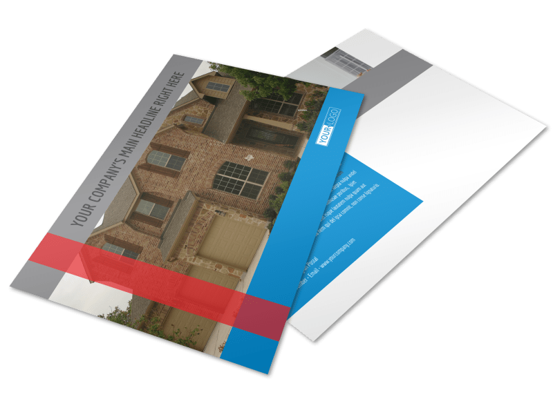 Residential Real Estate Postcard Template Preview 1
