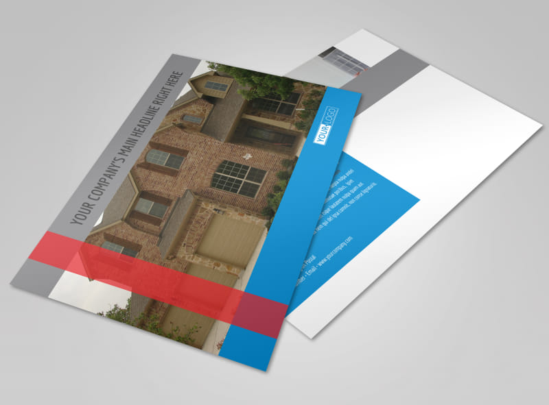 Residential Real Estate Postcard Template Preview 4