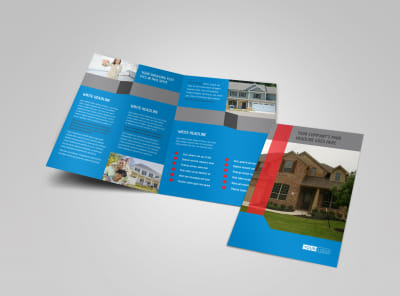 Real Estate Home for Sale Bi-Fold Brochure Template