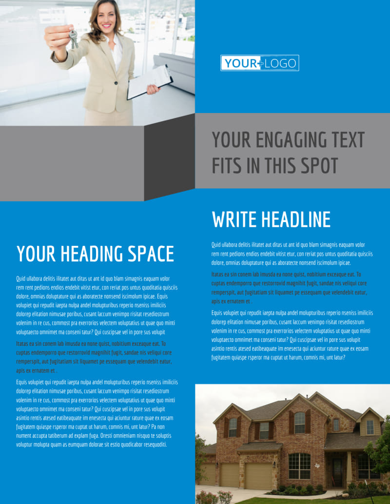 Residential Real Estate Flyer Template Preview 2