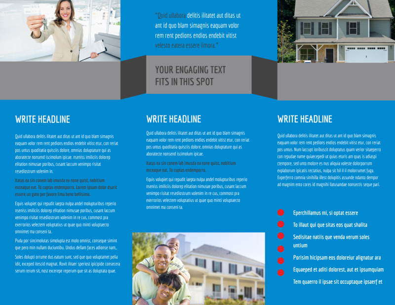 Residential Real Estate Brochure Template Preview 3