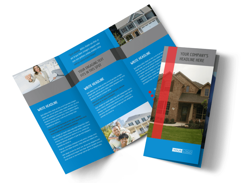 Residential Real Estate Brochure Template Preview 1