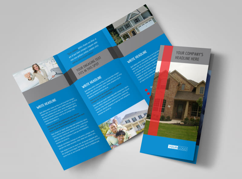 Real Estate Home For Sale Tri Fold Brochure Template  Home For Sale Brochure
