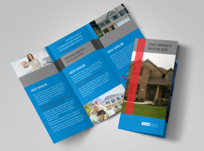 Real Estate Home for Sale Tri-Fold Brochure Template