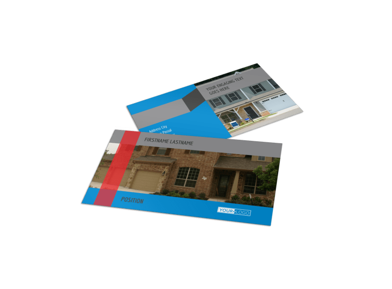 Residential Real Estate Business Card Template Preview 1