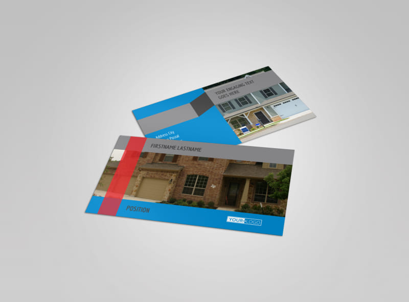 Residential real estate business card template mycreativeshop real estate home for sale business card template accmission Images
