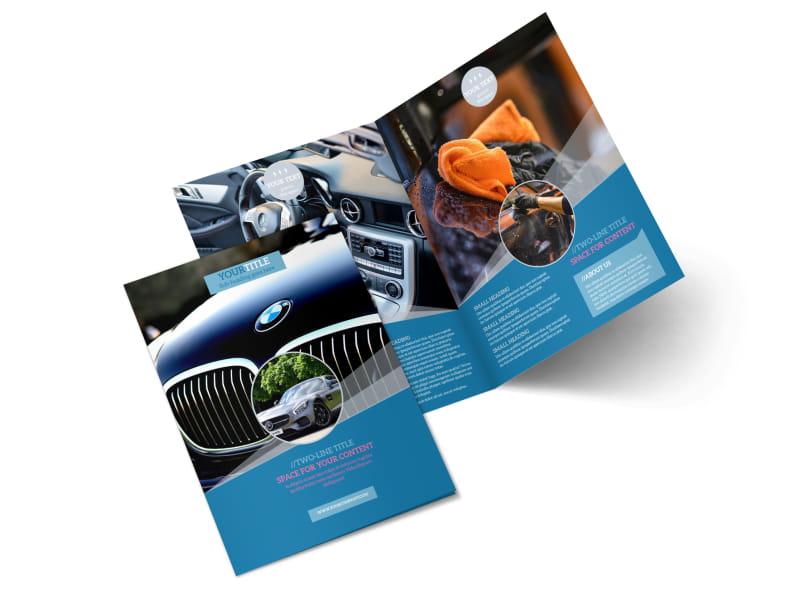 Auto Detailing Bi-Fold Brochure Template 2