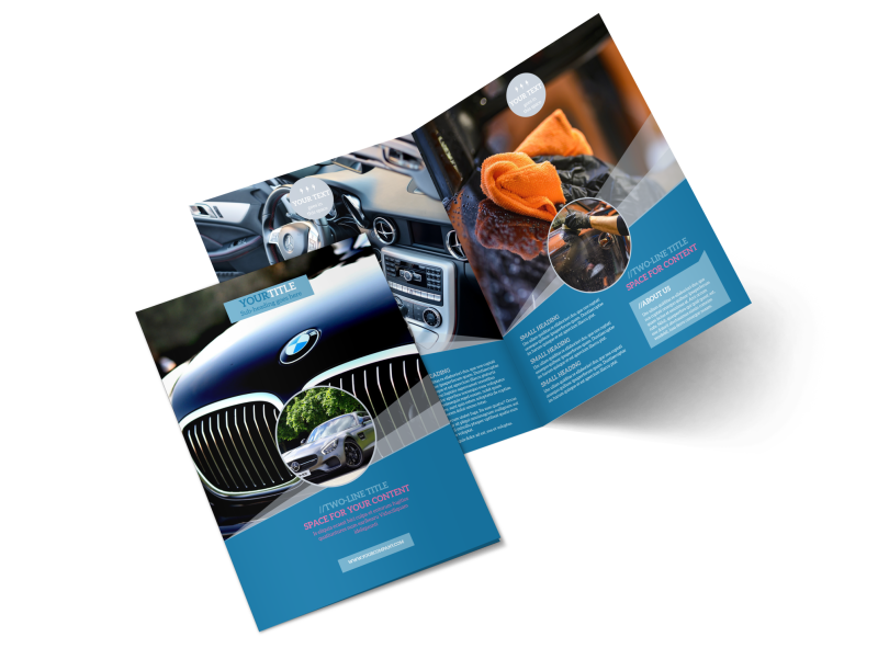 Auto Detailing Brochure Template Preview 1