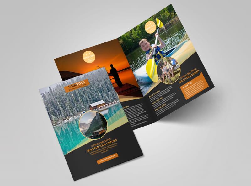 Lake Front Resort Bi-Fold Brochure Template 2