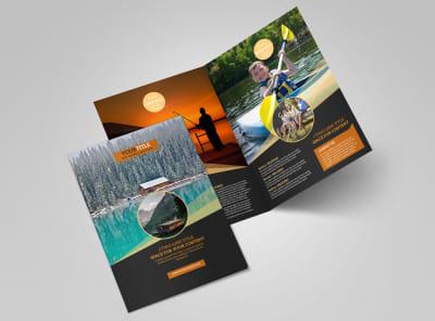 Lake Front Resort Bi-Fold Brochure Template 2 preview