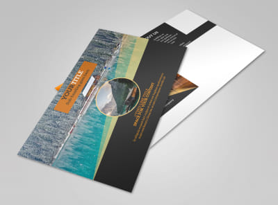 Lake Front Resort Postcard Template 2