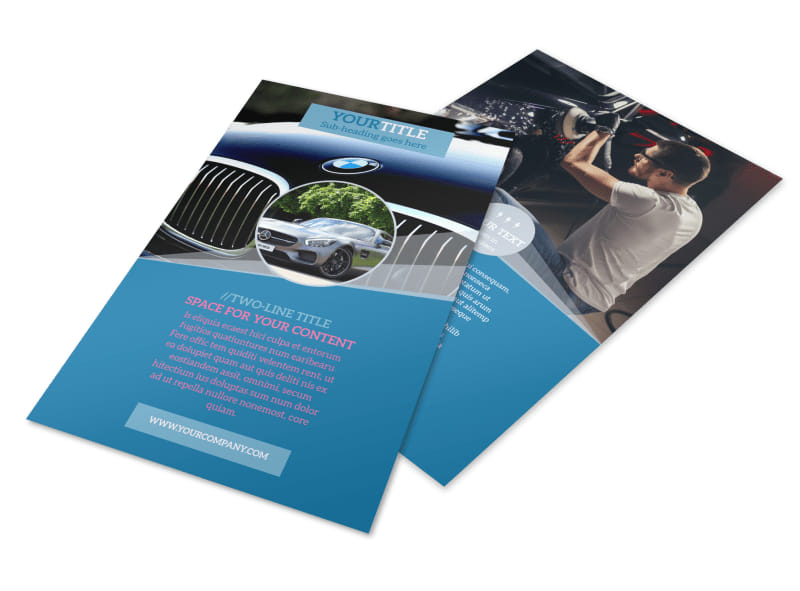 Auto Detailing Flyer Template 3