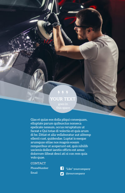 Auto Detailing Flyer Template Preview 2