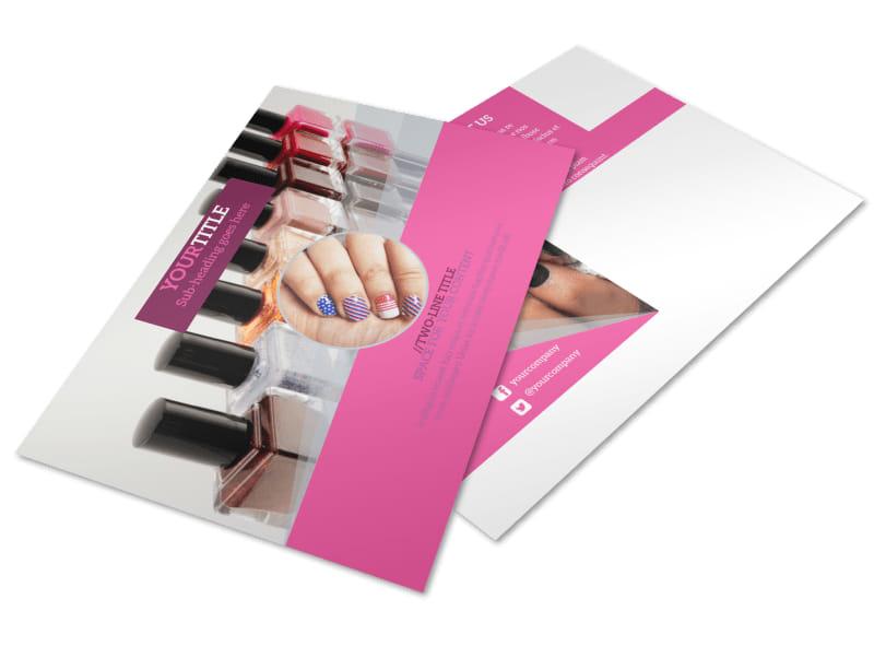 Fashion Nail Salon Postcard Template 2