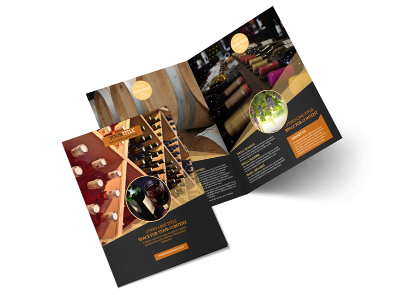 Wine Tour Bi-Fold Brochure Template 2
