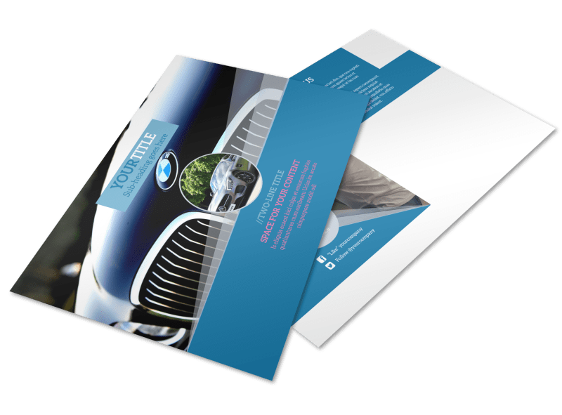 Auto Detailing Postcard Template Preview 1