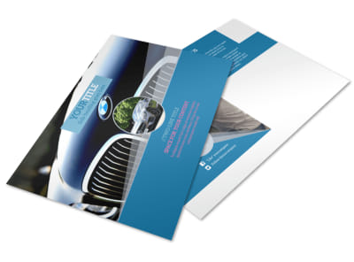 Auto Detailing Postcard Template preview