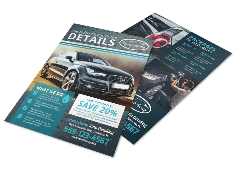 auto detailing flyer template mycreativeshop