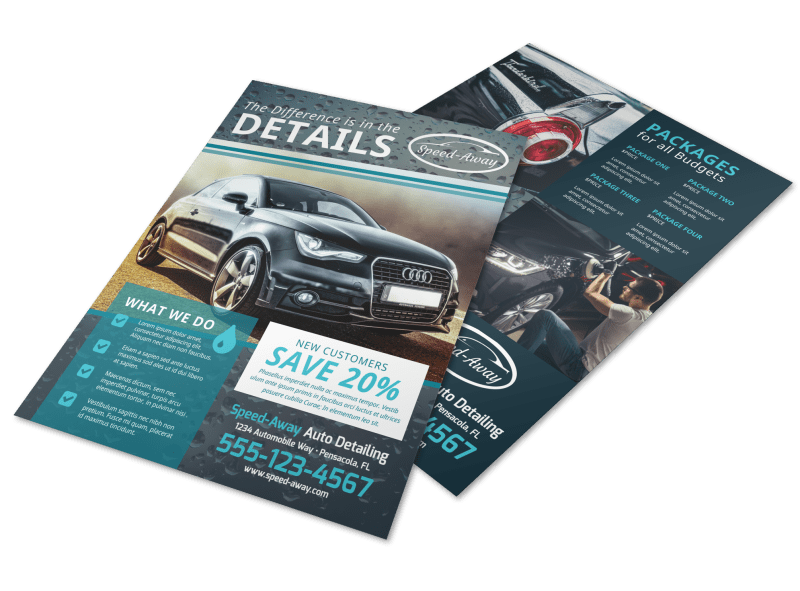 Auto Detailing Flyer Template Preview 1