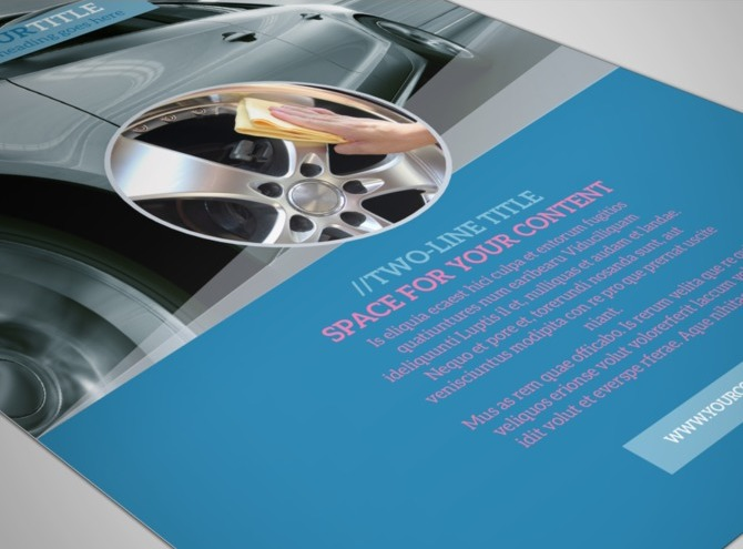Auto Detailing Flyer Template