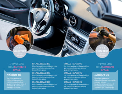 Auto Detailing Brochure Template Preview 2