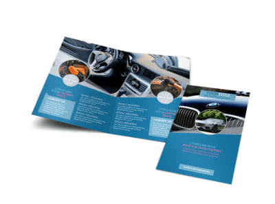 Auto Detailing Bi-Fold Brochure Template preview