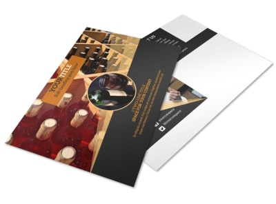 Wine Tour Postcard Template 2 preview