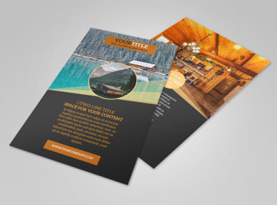 Lake Front Resort Flyer Template 3