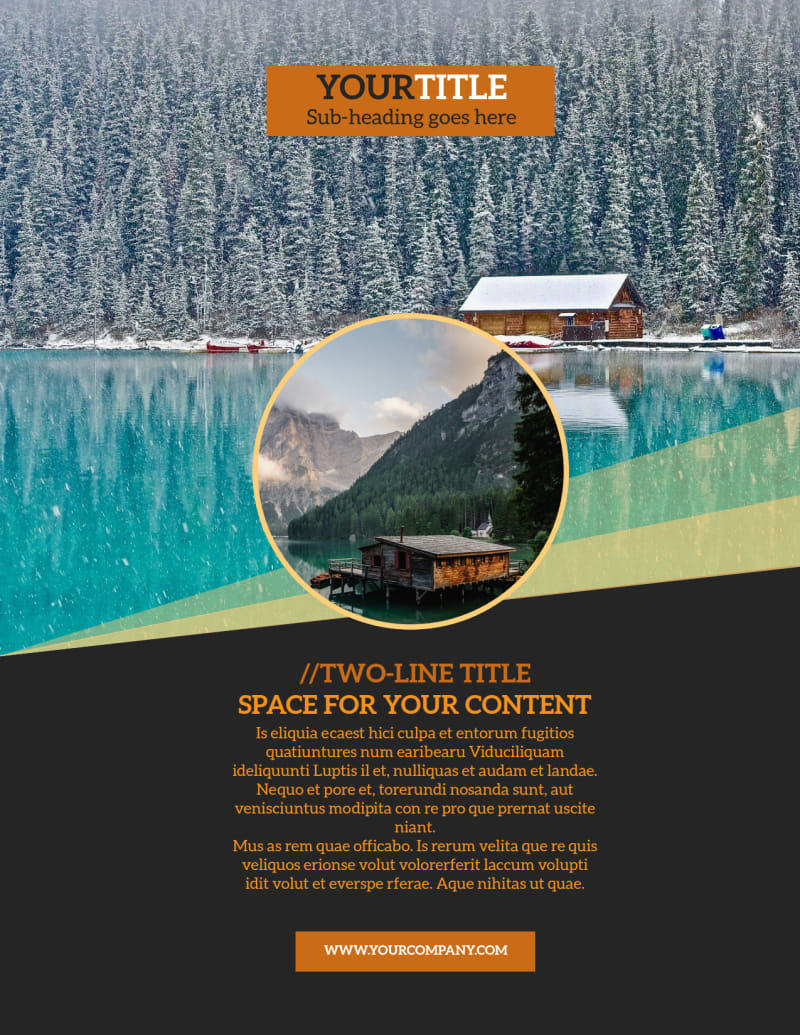 Lake Front Resort Flyer Template Preview 2