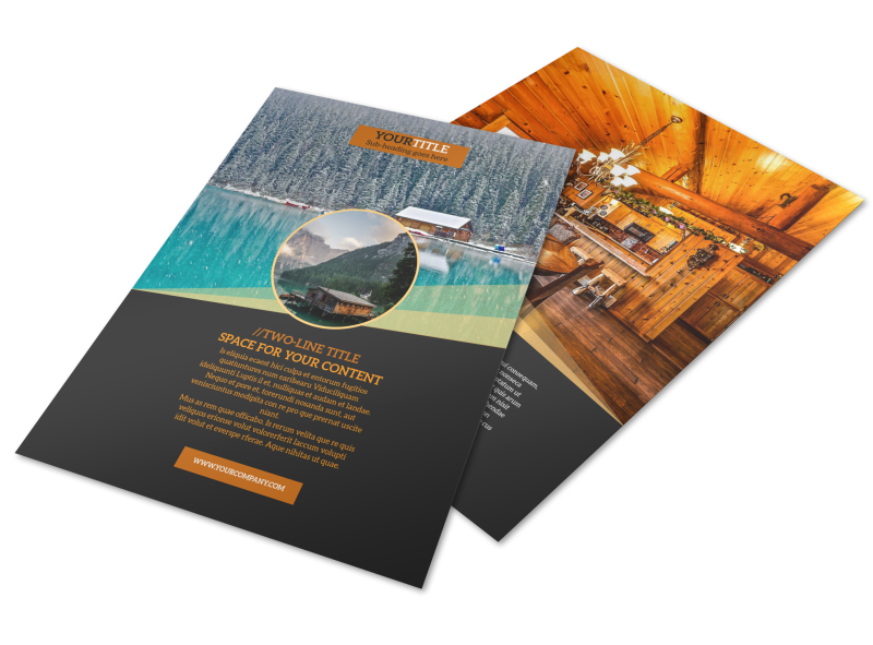 Lake Front Resort Flyer Template Preview 1