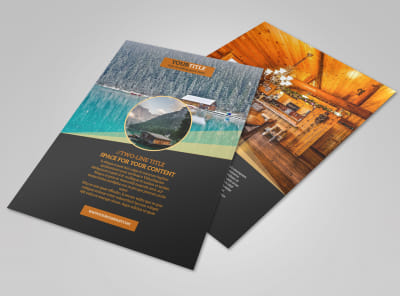 Lake Front Resort Flyer Template preview