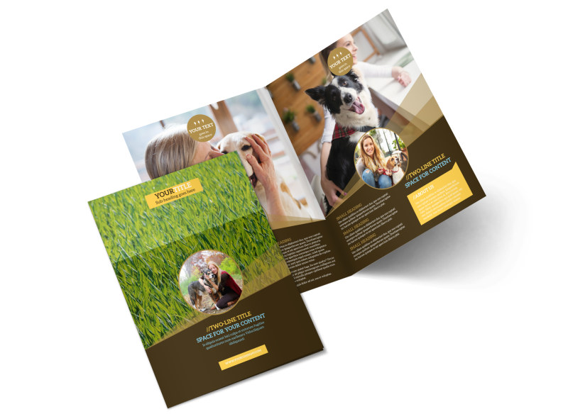 Obedience Classes Bi-Fold Brochure Template 2