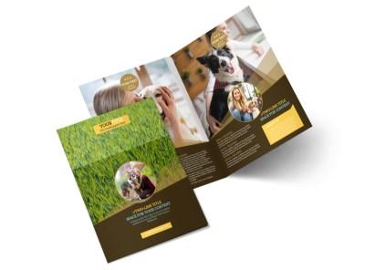 Obedience Classes Bi-Fold Brochure Template 2