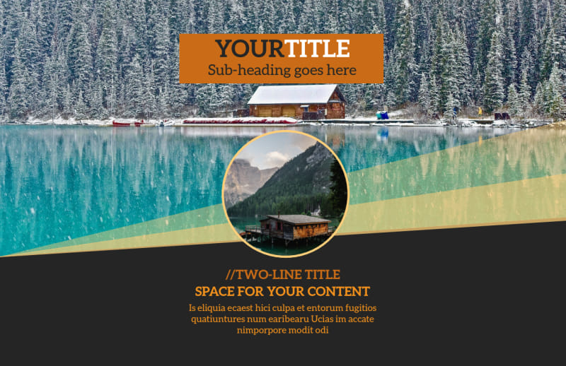 Lake Front Resort Postcard Template Preview 2