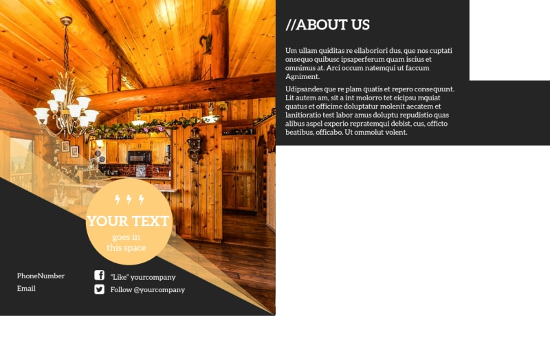 Lake Front Resort Postcard Template Preview 3