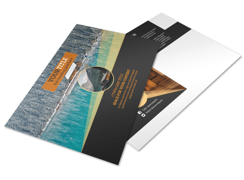 Lake Front Resort Postcard Template Preview 1
