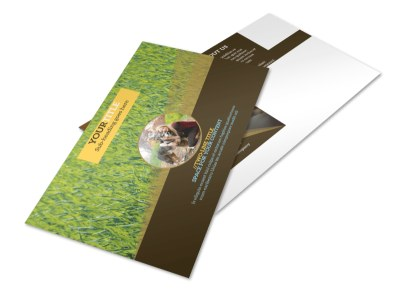 Obedience Classes Postcard Template 2