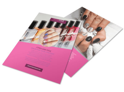 Fashion Nail Salon Flyer Template