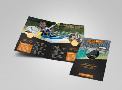 Lake Front Resort Bi-Fold Brochure Template preview
