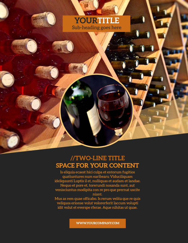 Wine Tour Flyer Template Preview 2
