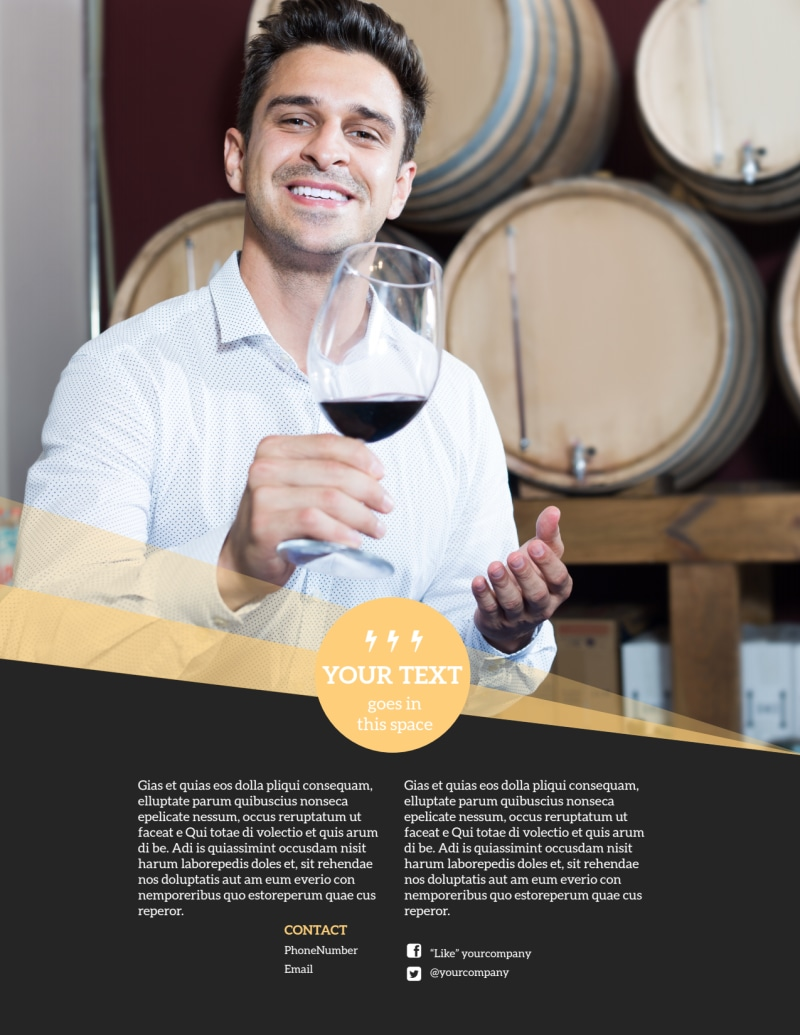 Wine Tour Flyer Template Preview 3